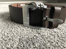 "Brown Leather Mens Belt of Designer MEXX size XL /95/ 38"""