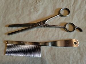 """Millers Forge Light Shear, 6.5"""" 30 Tooth Thinning and Twinco Dog Comb USA"""