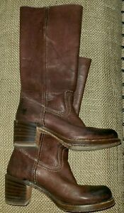 👢 FRYE Vintage Campus Brown Leather Riding Boots Size 7 77525 USA