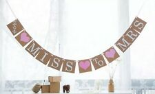 """FROM MISS TO MRS""  BUNTING WEDDING SHOWER / HENS PARTY BACHELORETTE BANNER"