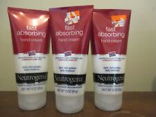 Lot of 3 Neutrogena Norwegian Formula Fast Absorbing Hand Cream 3 oz