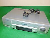 SCHNEIDER VCR VHS VIDEO CASSETTE RECORDER Vintage SVC217 Silver Fully Tested