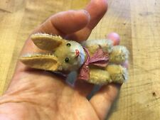 Adorable Vintage Jointed Mohair Schuco Noah's Ark Bunny Rabbit Miniature Sweet!