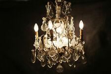 Lustre en bronze et pampilles de cristal XIXè / Bronze chandelier & crystal 19th