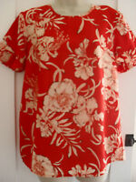 Ladies size 10 Atmosphere red with white floral summer top top