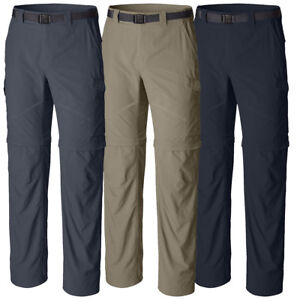 "New Mens Columbia ""Silver Ridge"" Convertible Omni-Wick Omni-Shade Pants"