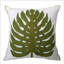 Palm Leaf 100% Cotton Natural Rustic Modern Cushion Cover Case Tropical Nature