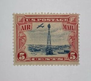 Travelstamps:1928 US STAMPS SCOTT#C11, Beacon on Rocky Mountains, Mint, Og, LH