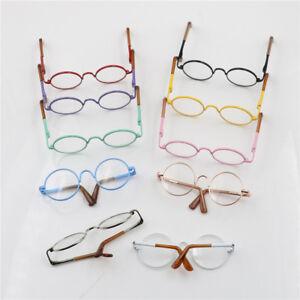 Round Frame Clear Lens Eyewear Glasses for 12'' Blythe Dolls Accessory J.eo