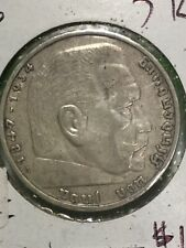 Germany 1936 A Silver 5 Mark