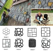 Diy Concrete Stone Walk Maker Paving Pavement Mold Garden Driveway Brick Patio
