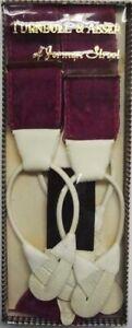 Turnbull & Asser/ Albert Thurston Fuchsia Velvet Braces XL (DEADSTOCK in Box!)