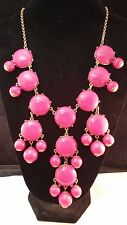 J.Crew Iconic Pink Bubble Statement Necklace.