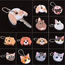 Rubber Soft Cute Puppy Key Cover Top Cap Keyring Bag/Phone Keychain Ornament FR