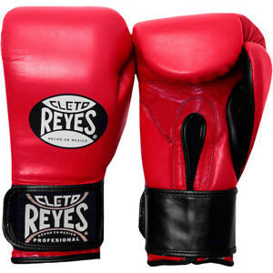 Cleto Reyes Extra Padding Leather Boxing Training Gloves - Red