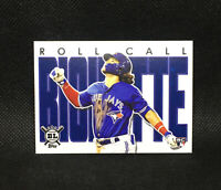 2020 Big League Bo Bichette RC Toronto Blue Jays Rookie Roll Call Insert #28