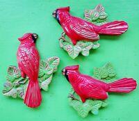 Vintage Mid Century 60s 70s Miller Studio Chalkware Ceramic Bird Wall Hangings