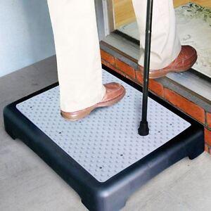 Disability Half Step Climb Door Walking Mobility Aid XLarge Anti Slip Platform
