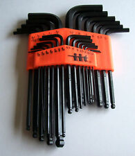 25pc ILLINOIS INDUSTRIAL TOOL ALLEN  BALL END  HEX KEY DRIVER WRENCH SOCKET SET