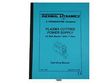 Thermal Dynamics Ce Pakmaster 50 Xl Plus Plasma Cutter Operating Manual *1003