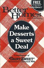 Better Homes and Gardens Make Desserts a Sweet Deal Booklet 1986