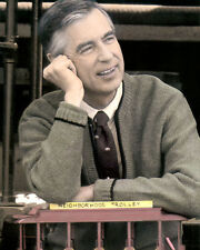 "FRED ROGERS TV HOST MR. ROGERS' NEIGHBORHOOD 8x10"" HAND COLOR TINTED PHOTOGRAPH"