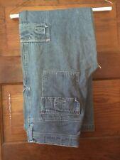 Vintage County Seat Denim Drawstring Cargo Jeans Sz 1-2