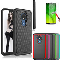 For Motorola Moto G7 Play/Power/Supra/Plus Hybrid Silicone Shockproof Case Cover