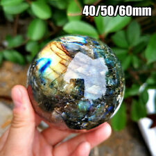 40-70mm Natural Rainbow Labradorite Quartz Sphere Reiki Healing Crystal Ball