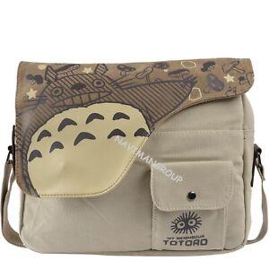 My Neighbor Totoro Anime Crossbody Satchel Shoulder Canvas School Messenger Bag