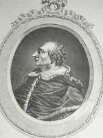 Ecole ITALIENNE XVII GRAVURE PORTRAIT PAPE ALEXANDRE VI VATICAN ITALIE 1780