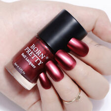 9ml Metallic Mirror Nail Polish Wine Red Shiny Manicure Nail Varnish Born Pretty