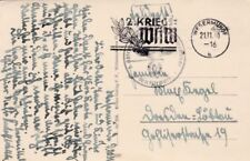 WWII Used Cover European Stamps