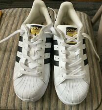 Addidas Ladies Superstar Size 6 White/Black - Preowned - Slightly Worn - Mint+++