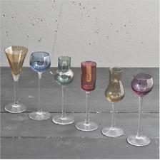 LISTA NOZZE VETRO MURANO HENRIETTE MULTICOLOR 6Pz Calice Liquore VARI colori