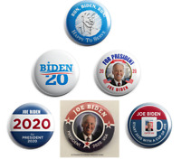Joe Biden For President 2020 Campaign Buttons (Set of 6 pins, 2.25 inches)