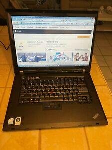 """Lenovo ThinkPad R61 15.6"""" Intel Celeron 1.86GHz 2GB RAM 160GB HDD DVD-CD/RW Wifi"""