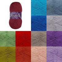 King Cole Smooth DK Yarn Crochet Knitting Craft Wool Crochet 100g Ball