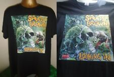 SAVOY BROWN- LOOKING IN - BRILLIANT 1970 ALBUM PRINT T SHIRT-BLACK EXTRA LARGE