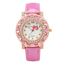 Fashion Hello Kitty Wrist Watch Girl Teens Kids Cartoon Quartz Analog Watches