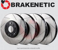 BRAKENETIC SPORT Drilled Slotted Brake Disc Rotors BSR101267 FRONT + REAR