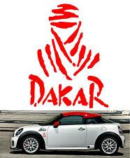 DAKAR Red Vinyl Decal Sticker Car Bike Vehicle Window Helmet Rally Logo +