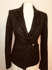 Allsaints XS 6/8 Ladies Pin Striped Wool Jacket By Fox Brothers Made In England