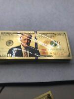 Gold 2020 Trump Bills 50 Pcs