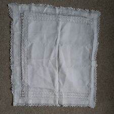 More details for antique linen and lace nightdress cushion  case