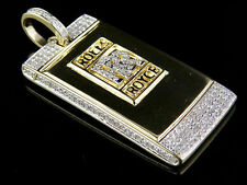 10K Yellow Gold Genuine Diamond Custom Rolls Royce Key Pendant 9/10 Ct 1.75""