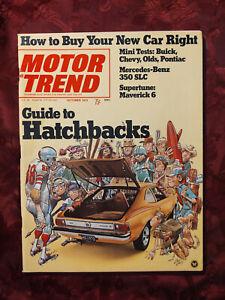 MOTOR TREND October 1972 New Cars Hatchbacks Air Bags PORSCHE 911R Renault