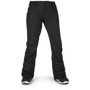 New 2019 Volcom Womens Species Stretch Soft Shell Snowboard Pants Large Black