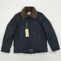 BOB DONG US Army Military Wool Jacket Vintage Winter Men's Fur Collar Coat 36-44