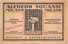 3325) CARTONCINO, MILANO, ALFREDO SQUASSI, PIASTRELLE DI CERAMICA E SANITARI.